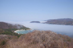 Strange fog enters Zihuatanejo Bay - click to enlarge