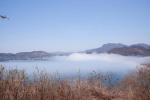 Strange fog bank crashes into La Ropa - click to enlarge