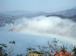 Fog bank crashes into La Ropa - click to enlarge