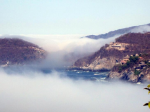 Strange fog over Punta Esteban - click to enlarge