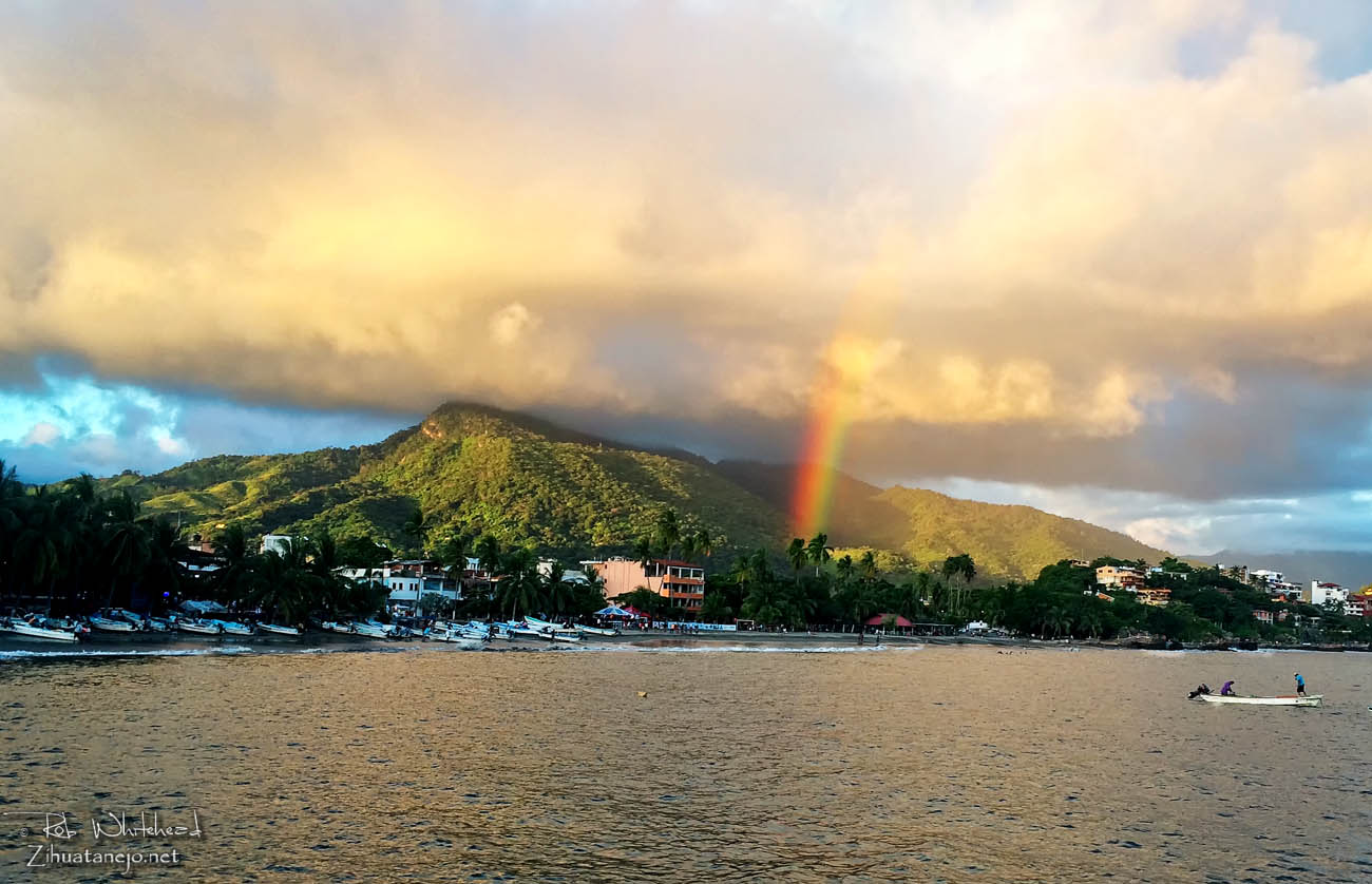 Rainbow over Zihuatanejo