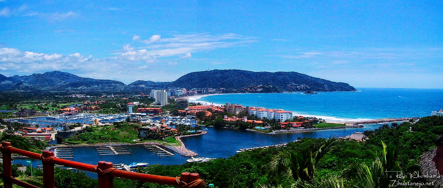 Marina and hotel zone in Ixtapa