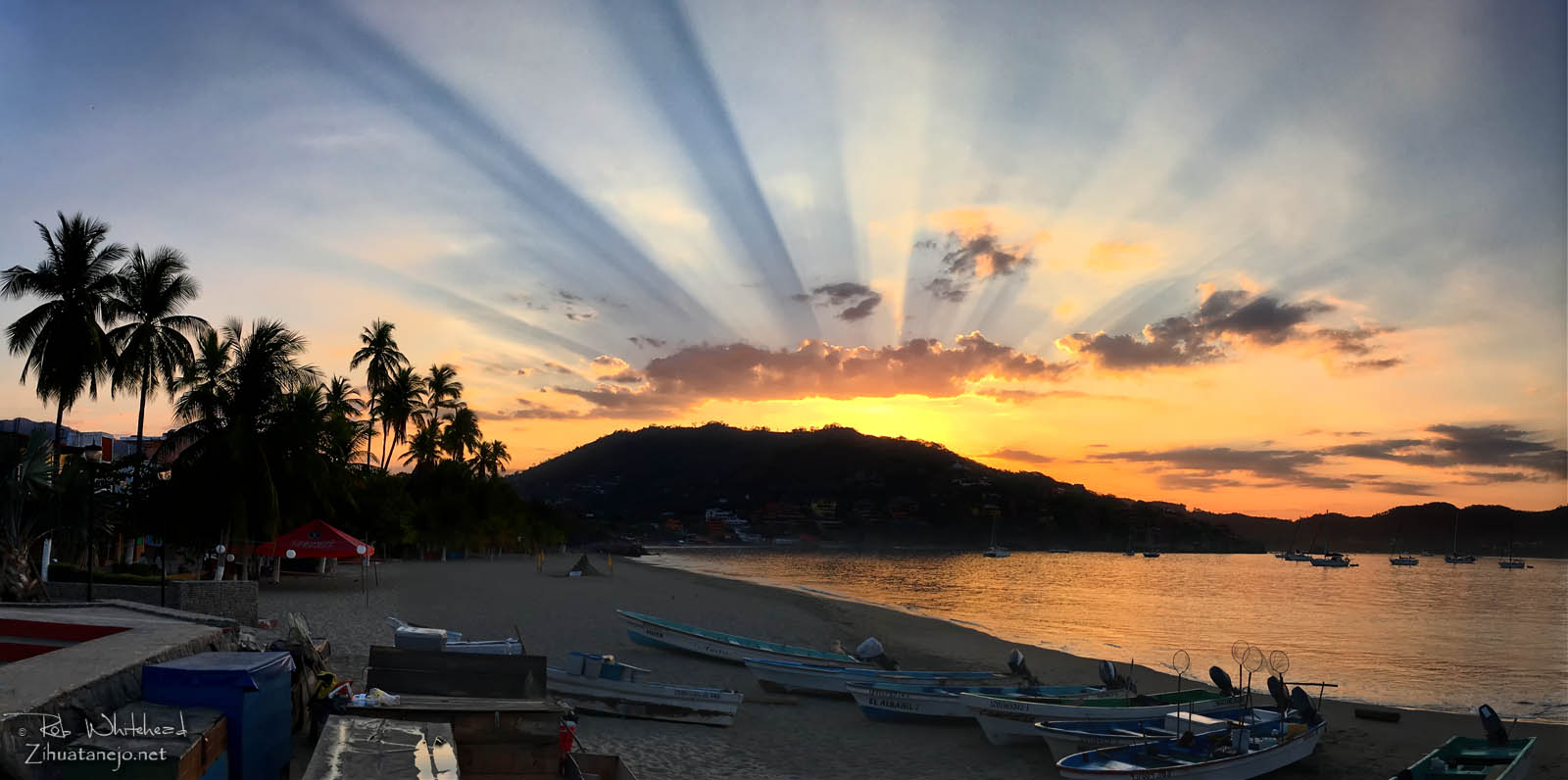 Sunrise in Zihuatanejo Bay