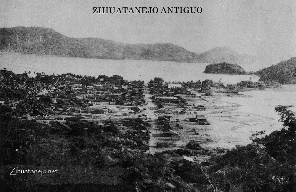 Post card of Zihuatanejo 1960