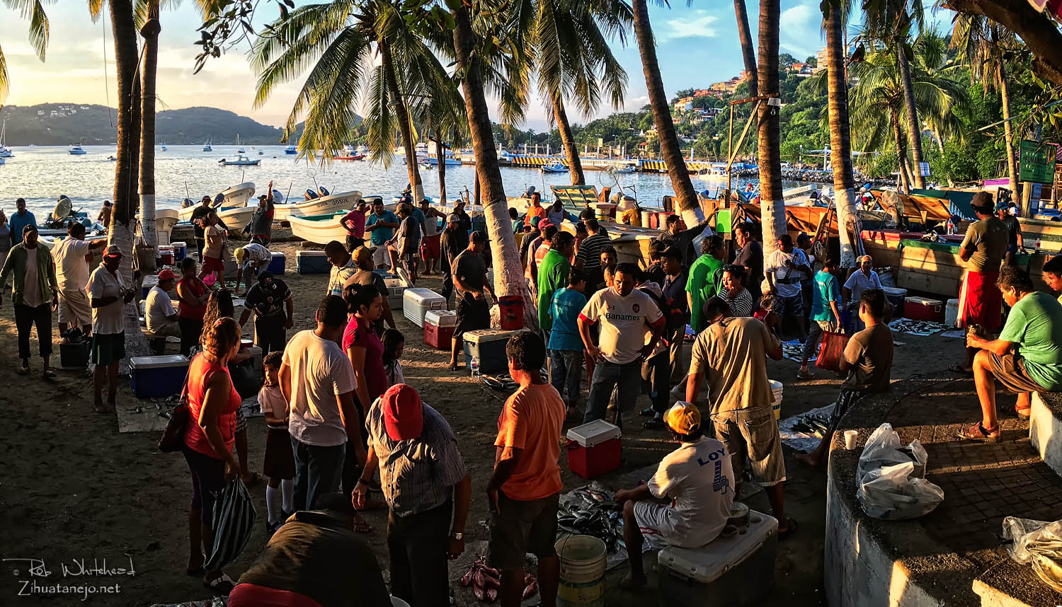 Fishermen's market on the downtown beach, Zihuatanejo