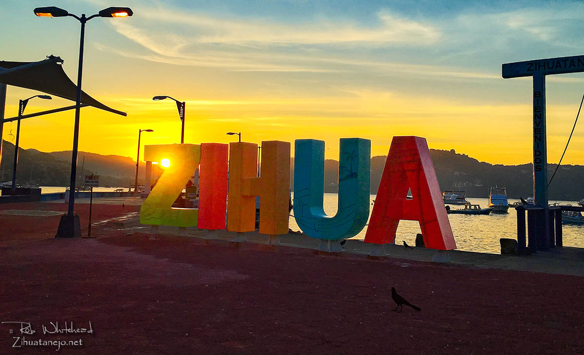 ZIHUA sign at the pier